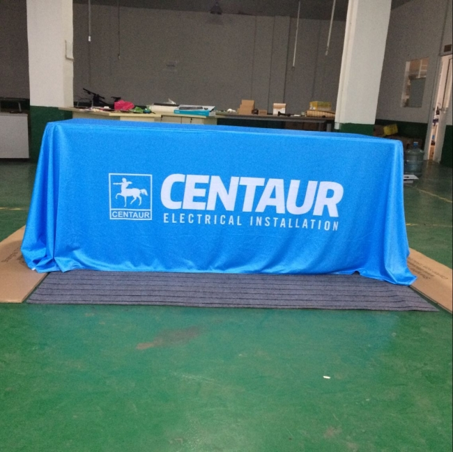 6ft throw table cloth for trade show
