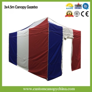 3x4.5m (10x15ft) Custom Canopy Tent With Walls and Gate